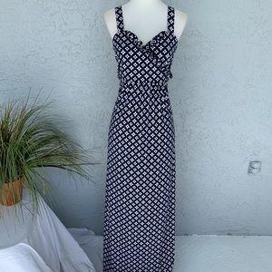 Island Republic Navy White Maxi Dress SZ 12